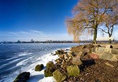 Winter 2016 Hamburgs im Lizenzfreie Stockbilder