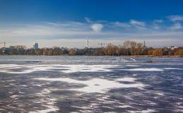 Winter Hamburgs im Deutschland 2016 Lizenzfreie Stockbilder