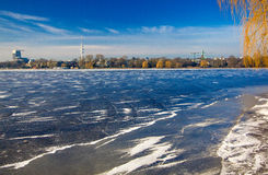 Winter Hamburgs im Deutschland 2016! Stockfoto