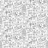 Winter hand drawn seamless pattern Royalty Free Stock Photography