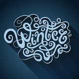 Winter hand lettering Royalty Free Stock Photo