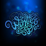 Winter hand lettering Stock Photography