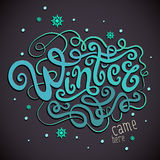 Winter hand lettering Stock Image