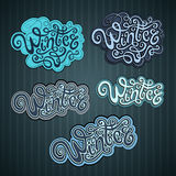 Winter hand lettering Royalty Free Stock Photography