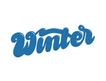 Winter hand lettering Royalty Free Stock Photos
