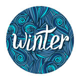 Winter hand written calligraphy word. Winter card Royalty Free Stock Image
