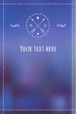 Winter handdrawn template for invitation or any text Royalty Free Stock Images