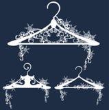 Winter hanger design Stock Photos