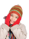 Winter happiness Stock Image