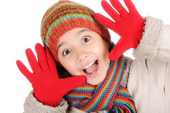 Winter happiness Stock Images