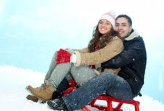 Winter happiness Stock Photos