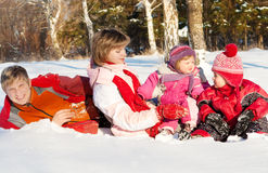 Winter happiness Royalty Free Stock Photos