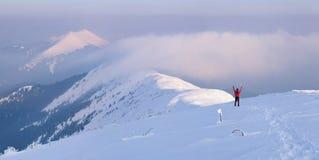 Winter - happy climber Royalty Free Stock Photography