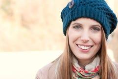 Winter happy girl Stock Images