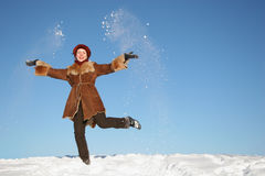 Winter happy girl4 Royalty Free Stock Photo