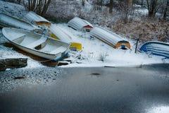 Winter harbor Royalty Free Stock Photos
