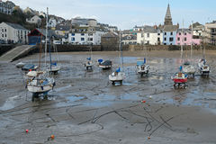 Winter harbour scene UK Royalty Free Stock Photography
