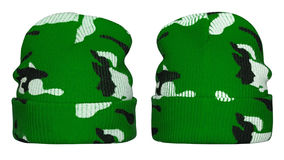 Winter Hat Camouflage Stock Image