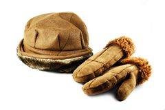 Winter hat and gloves Royalty Free Stock Photography