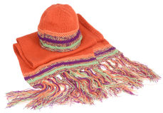Winter hat and scarf Royalty Free Stock Images