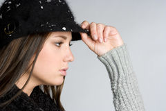 Winter Hat Woman Stock Photo
