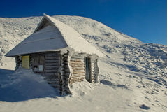 Winter-Haus stockfotografie