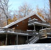 Winter-Haus Lizenzfreie Stockfotografie