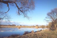 Winter at Havel river in Havelland Brandenburg Germany Stock Images