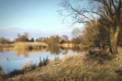 Winter at Havel river in Havelland Brandenburg Germany Stock Photos