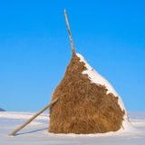 Winter haystack Stock Photos