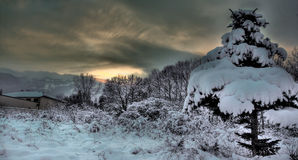 Winter HDR. HDR shot on a winter sunrise Royalty Free Stock Images