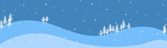 Winter Header / Banner. Clean blue and white Winter Web site header and banner Stock Images