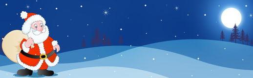 Winter Header / Banner santa royalty free stock photos