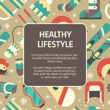 Winter Healthy Lifestyle Concept Template Background Royalty Free Stock Images