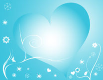 Winter heart Royalty Free Stock Image