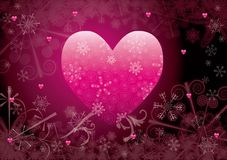 Winter heart Stock Images
