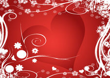 Winter heart design. Winter vector floral heart design Stock Image