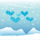 Winter heart vector Stock Images