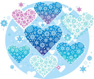 Winter hearts Royalty Free Stock Photography