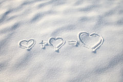 Winter hearts Stock Photo
