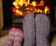 Winter heating Stock Image