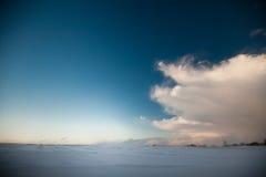 Winter heaven landscape. Cold winter heaven tranquil landscape Stock Images