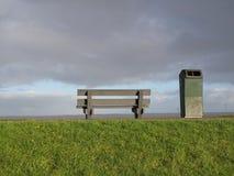 Winter-hemel over DE Zaanse Schans in Holland Stock Foto's