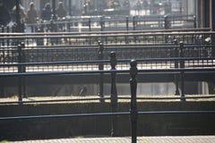 Winter-hemel over DE Zaanse Schans in Holland Royalty-vrije Stock Fotografie