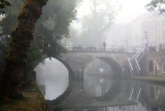 Winter-hemel over DE Zaanse Schans in Holland Royalty-vrije Stock Foto
