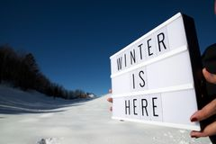 Winter is here Royalty Free Stock Images