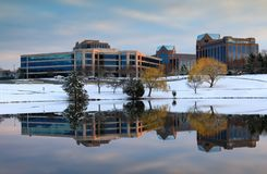 Winter Herndon Dulles Technology Corridor Virginia Stock Photo