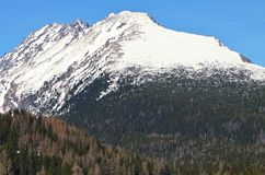 Winter High Tatra. Mountains in Slovakia, view from Strbske Pleso village Stock Photography