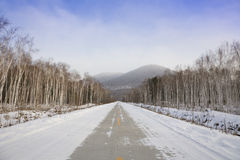 Winter highway Stock Photo