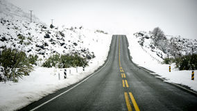 Winter highway Royalty Free Stock Photos